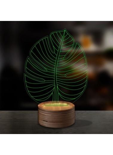 Artikel Monstera 3D LED Gece Lambası Renkli